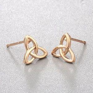 5/$24 Small Celtic Knot Post Earrings